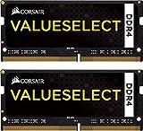 Corsair Value Select - Módulo de Memoria de 16 GB (2 x 8 GB, DDR4, 2133 MHz, CL15, SODIMM 260 Pin), Negro (CMSO16GX4M2A2133C15)