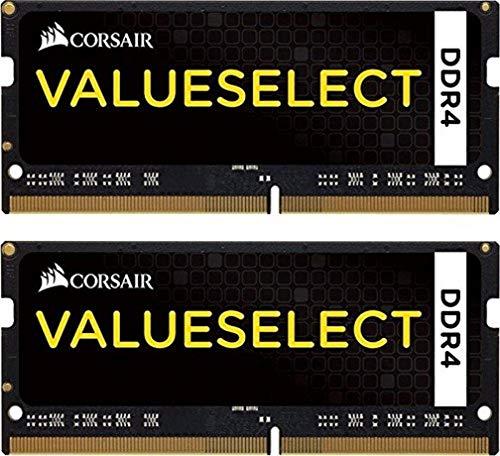 Corsair CMSO16GX4M2A2133C15 Value Select 16GB (2x8GB) DDR4 2133Mhz CL15 260pin SODIMM Laptop Memory Schwarz