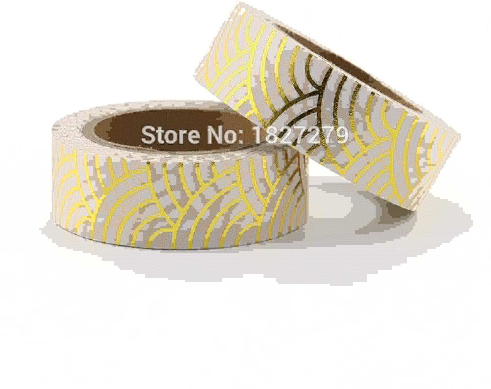 KANGKANGBOOS Cinta de enmascarar 10 unids oro Foil Washi Tape Papel Japonés 1.5  10 Metros Kawaii Scrapbooking Herramientas Colors Sólidos Cinta Adhesiva Decorativa Decorativa