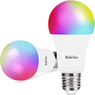bakibo Bombilla LED Inteligente WiFi Regulable 9W 1000 Lm L