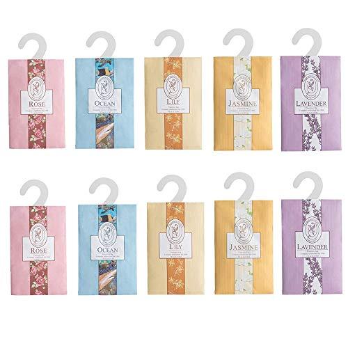 N\A Parfümbeutel zum Aufhängen, Duftsäckchen für Kleiderschrank, Schublade, Schränke, Auto, 10 Stück