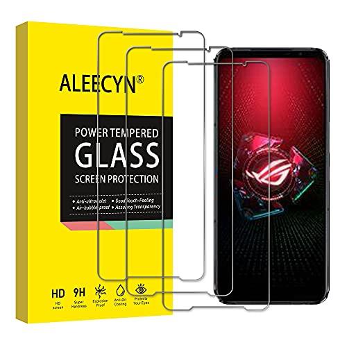 [3 Stück] Panzerglas Schutzfolie Kompatibel mit Asus ROG Phone 5, 9H Festigkeit, 2.5D Rand, Kratzfest, Blasenfrei, HD Bildschirmschutzfolie für Asus ROG Phone 5
