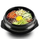 EgBert Coreano Dolsot Bowl Grandi Dimensioni Terracotta Pentola di Pietra Bibimbap Cottura + Sottopentola Set Ciotola di Riso - 14