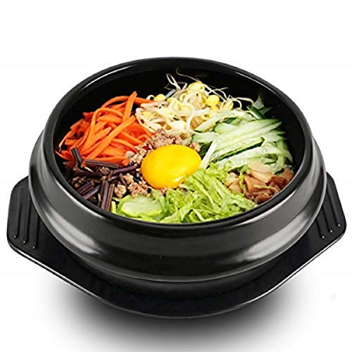 EgBert Koreanische Dolsot Bowl Big Sized Earthenware Stone Pot Bibimbap Cooking + Trivet Set Rice Bowl - 14