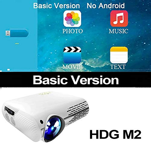 Video Projector voor Full HD 4K * 2K Home Cinema Projector met 5G WIFI Android 6.0 OS 6500 Lumens Projector,A