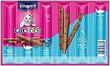 Vitakraft Cat-Stick Mini - Friandise Premium pour Chat Saveur Saumon - 1 Sachet de 6 Sticks