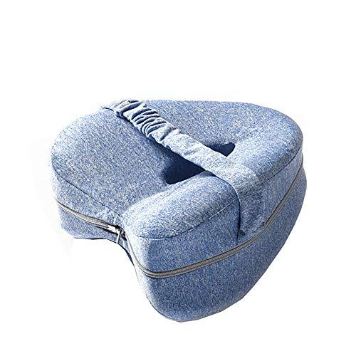 nobrands Comfy Kniekissen Memory Foam für Hüftschmerzen, Ischias, Beinschmerzen, Knieschmerzen, Gelenkschmerzen & Rückenstützkissen, Bett-Beinkissen für Seitenschläfer, Blau