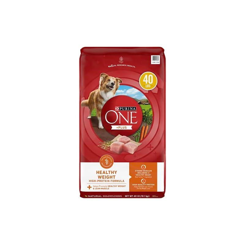 dog supplies online purina one weight management, natural dry dog food, smartblend healthy weight formula - 40 lb. bag