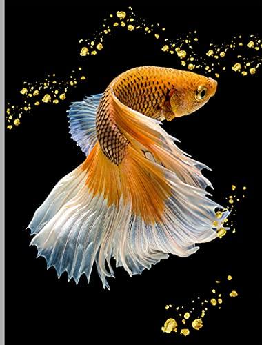 Yiwuyishi Póster nórdico y pez koi Chino Tradicional, Arte de Pared, Lienzo, Pintura Abstracta, pez Dorado, Imagen Animal, decoración de la casa, 50x70cm P-1920