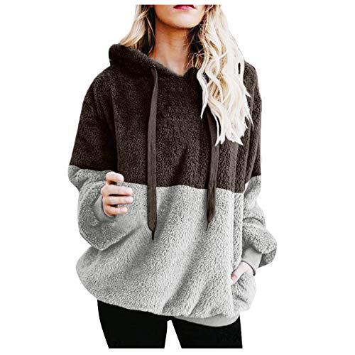 Mujer Sudadera Caliente y Esponjoso Tops Chaqueta Suéter Abrigo Jersey Mujer Otoño-Invierno...