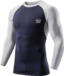 MEETWEE Compressietops voor heren, lange mouwen, basislaag, Cool Dry Running Top Sportshirts voor fitness, gym workout