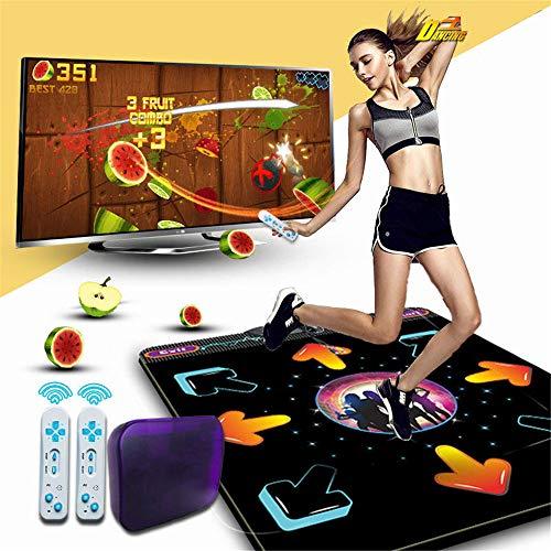 Guoyajf Tanzmatte, Tanzspiele im Arcade-Stil mit integrierten Musiktiteln und drahtloser Technologie,Tanzmatte Tanzmatte rutschfeste Tanzmatte Step Pads zum PC mit USB
