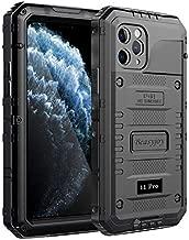 Beasyjoy iPhone 11 Pro Case Waterproof Metal Case Heavy Duty Built-in Screen Full Body Protective Shockproof Dustproof Military Grade Rugged Defender Outdoor Case 5.8 Inch (Black)