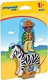 PLAYMOBIL 1.2.3- Guardabosques con Cebra Figura con Accesorios, Multicolor, única (9257)