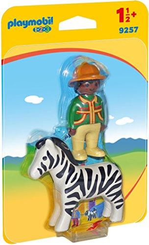 Playmobil 1.2.3 9257 Verzorger Met Zebra