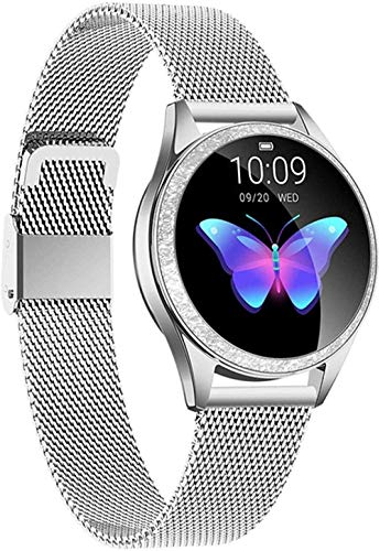Reloj Inteligente Bluetooth Reloj Inteligente De Las Mujeres De Pantalla Completa De Aleación De Diamante Reloj Inteligente Monitor De Ritmo Cardíaco Deporte Señora Para IOS Android-