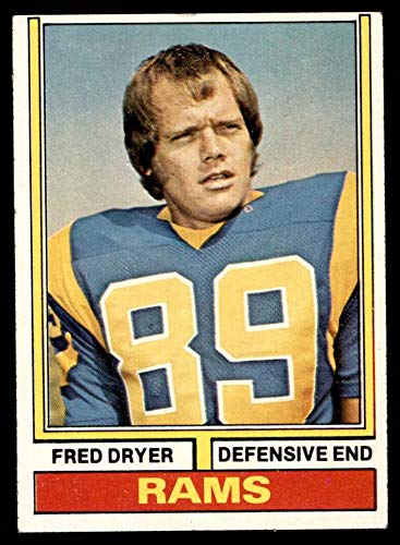 1974 Topps # 471 Fred Dryer Los Angeles Rams (Football Card) VG/EX Rams San Diego St