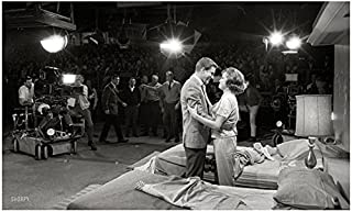 Mary Tyler Moore 8 Inch x 10 Inch Photograph The Mary Tyler Moore Show The Dick Van Dyke Show Ordinary People on Set Getting Hug from Dick Van Dyke Audience in Background kn