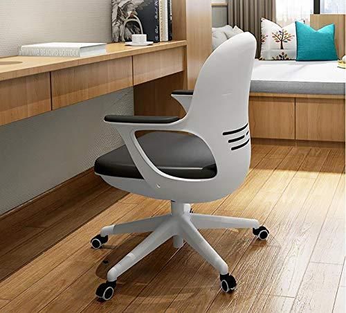 Chair Bürostuhl Ergonomisch Weiß,Beruhigende Halswirbelsäule Original Schwammpolster 120 ° Schwenkbar Hoch Belastbar Schreibtischstuhl Chefsessel