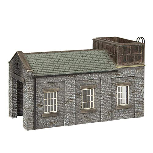 Graham Farish 42-0002 Scenecraft Stone Engine Shed with Tank (Pre-Built)
