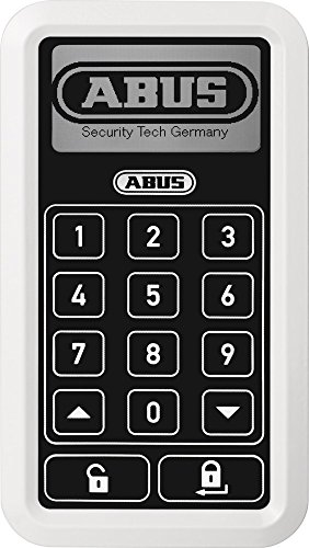 ABUS HomeTec Pro Funk-Tastatur CFT3000- Code-Tastatur zum Öffnen der Haustür - für den HomeTec Pro Funk-Türschlossantrieb - Weiß - 10125