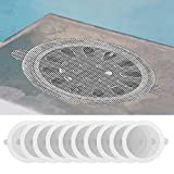 sfdeggtb 10PC Disposable Shower Drain Hair Catcher Mesh Stickers, Shower Drain Hair Trap Mesh Stickers,Upgrade 3.5 Inch Larger Diameter Fit for Most Drain Covers in Bathroom Kitchen (White)