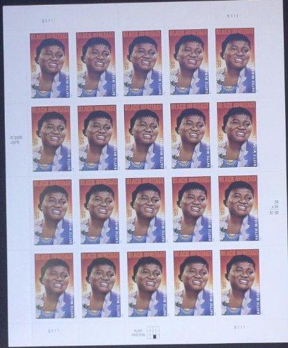 Collectible USA Postage Stamps 2006: Black Heritage Series: Actress Hattie McDaniel MNH Sheet Scott 3996
