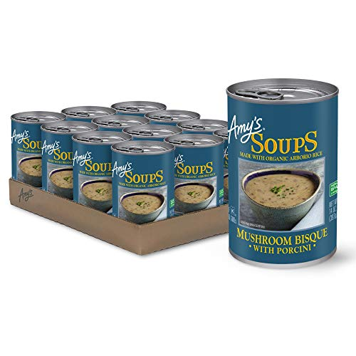 Amy's Soup, Gluten Free, Mushroom Bisque with Porcini, 14 Ounce (Pack of 12)
