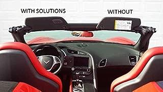 Sunvisor Solutions The Original for 2014-2017 Corvette C7 Cover Overlays - OEM Fabric (Pair)