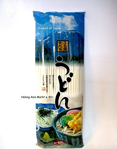 JAPANISCHE UDON NUDELN, 400g Ohne Zusatzstoffe! (FURUSATO SODACHI UDON)