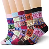 RenFox Calcetines de lana, Calcetines mujeres calcetines de invierno caliente suave cómodo, Calcetines Algodon Estampados Regalos Para Mujer y Niña