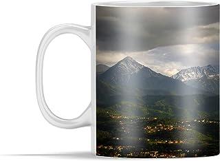 Mug - Alamty a rencontré les montagnes Tian Shan au Kazakhstan - 350 ml