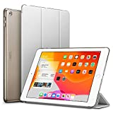 ESR iPad 10.2 ケース 第7世代 2019モデル クリア 薄型 軽量 傷防止 オートスリープ/ウェイク 三つ折りスタンド スマートケース Apple iPad 10.2インチ 第7世代 2019用ハードカバー(グレー)