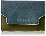 [マルニ] 3つ折りミニ財布 トリフォールドウォレット マルチカラー PETROLEUM+NATURAL WHITE+OLIVE GREEN+(DUNE) [並行輸入品]