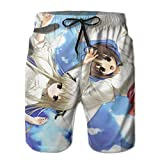 Sexy Swim Trunks with Pocket, No Fading Moisture Japanese Anime Yosuga no Sora Kasugano Sora Swim Shorts, Functional Surf Shorts for Vacation Drifting Home