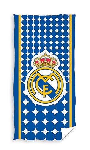 TEXTIL TARRAGO Toalla de Playa Real Madrid 70x140 Microfibra, Producto Oficial