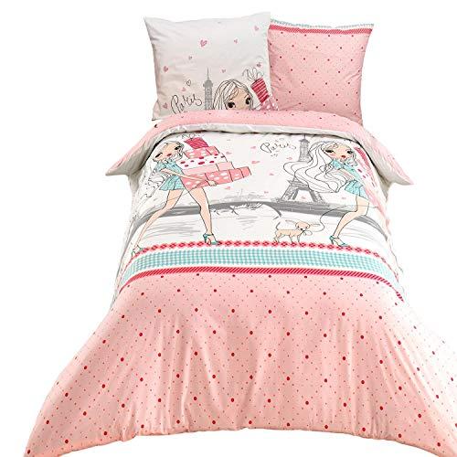 ModHaus Ropa de cama de algodón Exclusive - Shopping 140 x 200 cm + 1 x 70 x 80 cm
