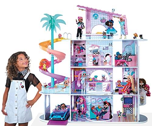 LOL Surprise OMG La casa delle Sorprese - 85+ sorprese, 4 Piani, 10 stanze - Compresi mobili e Accessori - per Bambole LOL Surprise e OMG - Casa delle Bambole da Collezione - età: 3+ Anni