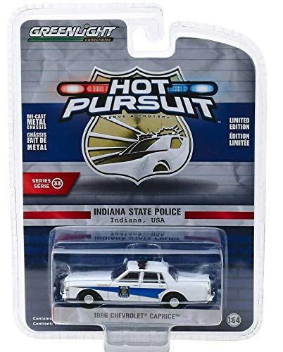 Greenlight 42900-B Hot Pursuit Series 33-1986 Chevrolet Caprice - Indiana State Police 1:64 Scale