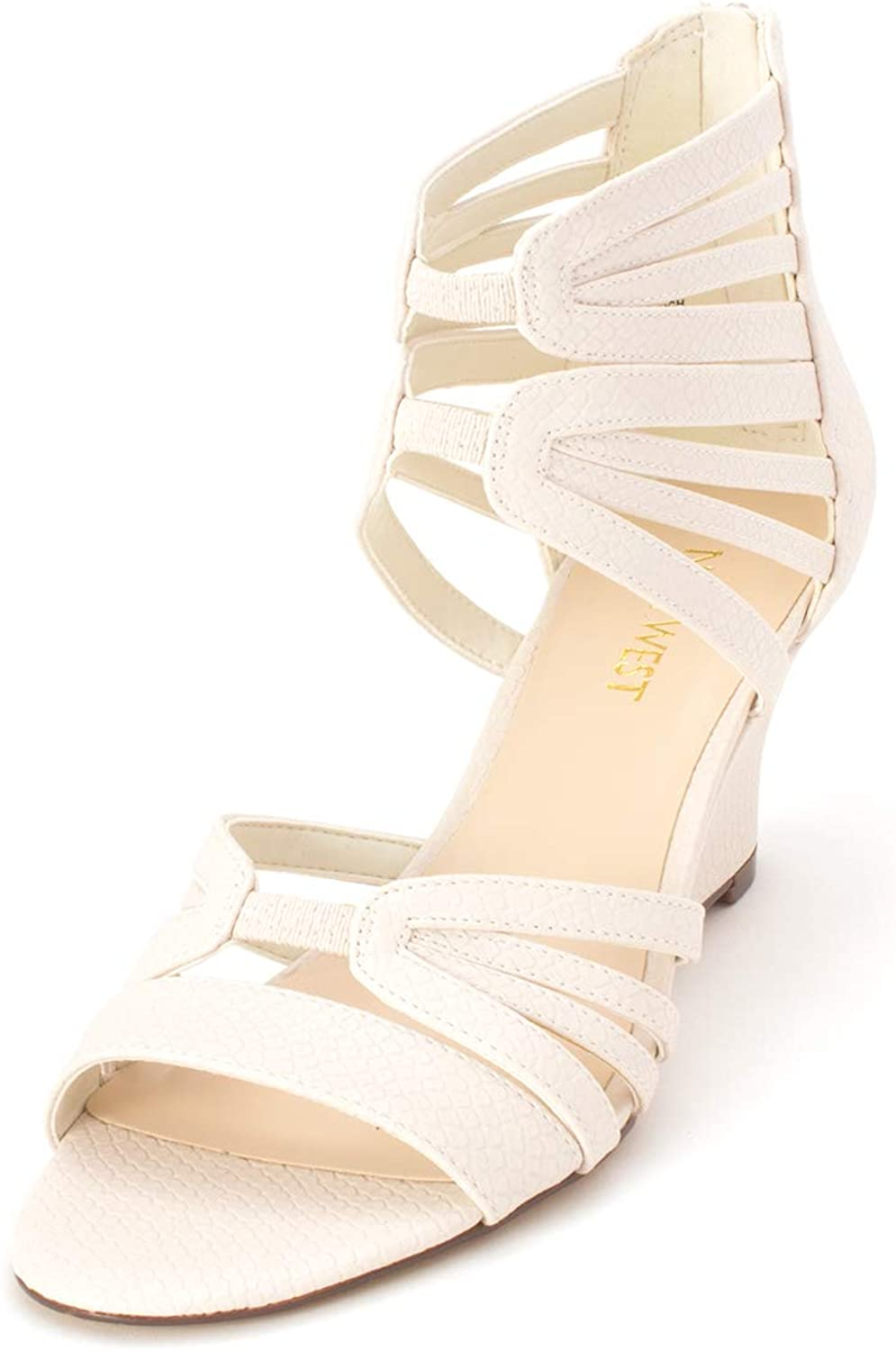 Nine West Womens Raleigh Leather Open Toe Special Occasion Platform Sandals