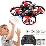 GEYUEYA Home Mini Drone Enfant RC Hélicoptère Infrarouge Induction Télécommande Avion Quadcopter, Mode sans Tête, Maintien d'altitude, Flip 3D, Opération à Un Bouton, pour Enfant et Débutant