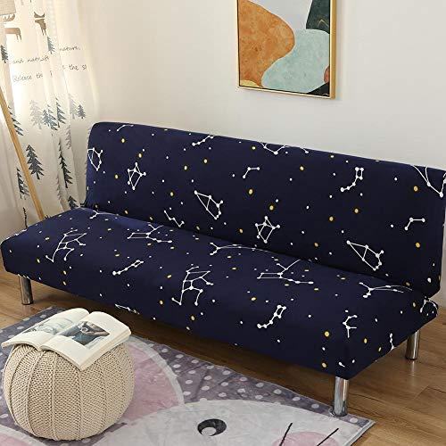 chinejaper Funda de sofá sin reposabrazos, Extensible, Totalmente Plegable, sábana Bajera Ajustable Universal para sofá o Cama, Azul, B