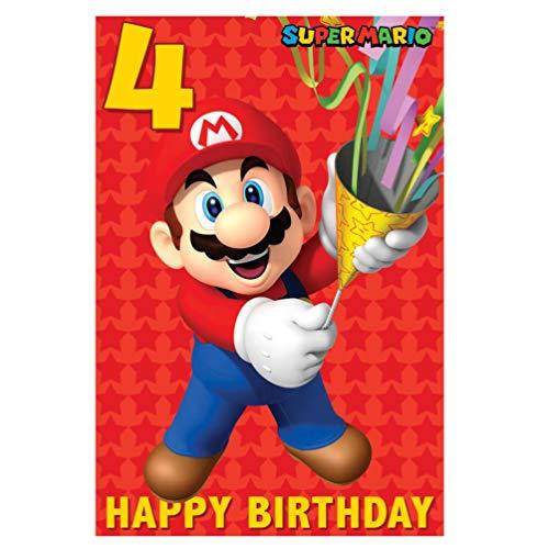 Super Mario 4e verjaardagskaart