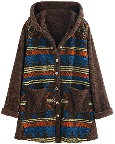 DCVZTEA Womens Fashion Plus Size Hoodie Outwear Top Printed Sweater Blouse Coat