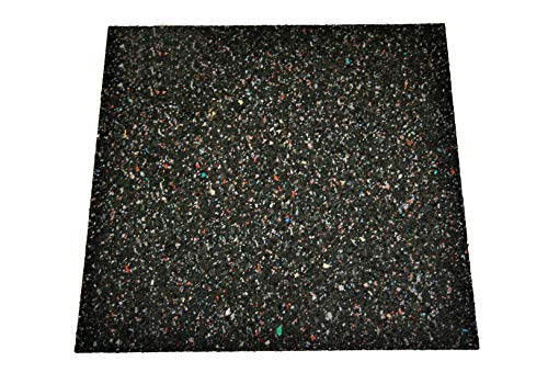 Gummimatte Waschmaschine - Anti-Vibrationsmatte HxBxT: 600x600x20 mm (Marke: Szagato) (Antirutschmatte Bautenschutzmatte Gummigranulatmatte Kofferraummatte)
