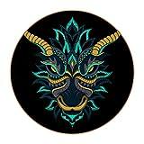 Sottobicchieri Drago stilizzato Coaster for Drinks Set di 6 resistenti al calore Tovaglietta pelle Per bevande al tè alla birra al caffè design creativo Regalo 11x11 cm