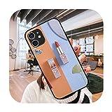 Funda del teléfono para el iPhone 12 Mini 11 Pro XS MAX XR X 8 7 6S 6 Plus negro cubierta cubierta moda impermeable elegante lápiz labial Girl-G9-iPhone XR
