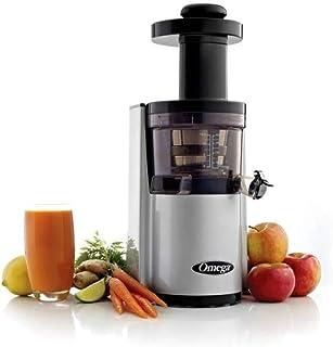 Omega VSJ843RS - Procesador de fruta y verdura (capacidad de 1 litro), color plateado [Importado de Francia]