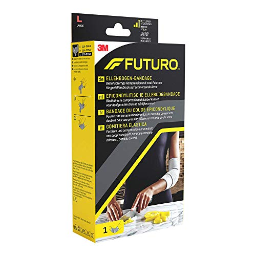 FUTURO FUT47863 Classic Ellenbogen-Bandage, beidseitig tragbar, Größe L, 27,0 - 29,5 cm