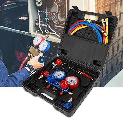 Manifold Gauge Set,Koeling Opladen Digitaal Systeem Gauge Set,Hoge Precisie Lekkage Tester Meter Kit voor het testen Onderhouden Air-Conditioner, Koelkast